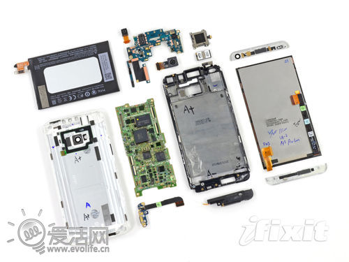 HTC One拆解:难度系数超高 一体性超强