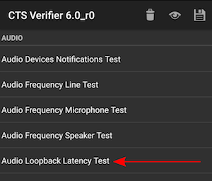 Audio Framework CTS Verifier